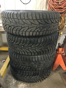 215/55R17 Sailun Ice Blazer tires on 5 bolt Kia steel wheels
