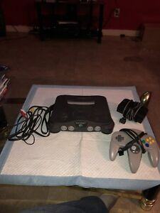 N64 console complete with red expansion pack