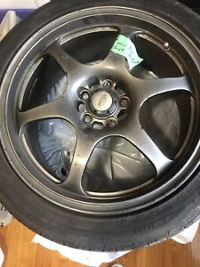 Tires on rims. Must go