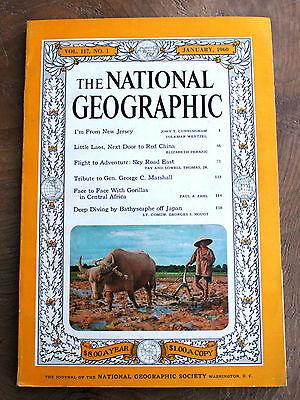 National Geographic January  1960  Laos  New Jersey  Gorillas  Gen  Marshall