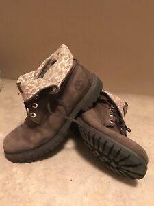 Rare Timberland Men's Size 10 Fold Down Brown Boots