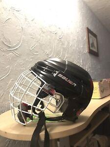 Bauer Re Akt 100 helmet w/ ccm white cage