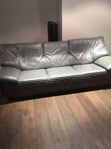 2 Leather couches and Love seat / great condition.