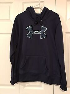 "Under Armour ""Big Logo"" Women's Hoodie, Dark Blue, XL"