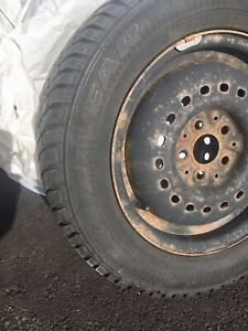 Four Goodyear Winter Tires on Rims P185\65R14