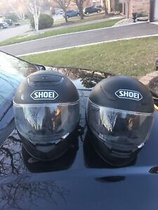 Mat black finish blue tooth shoei RF 1100 Paired helmets size L