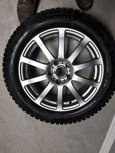 4 X pneus hivers  Nokian Norman 5 sur Mags 225/55/17