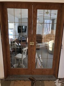 Oak sliding doors