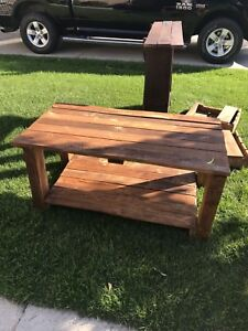 Reclaimed coffee table.