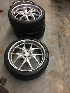 """22"""" rims and tires.  $600"""