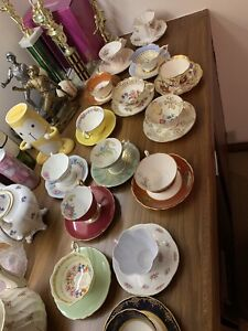 Collection of China tea cups
