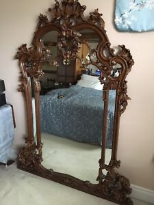 Italian hand carved mirror