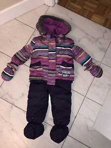 Two-pieces baby snowsuit