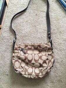 Coach cross body bag used condition with some wear