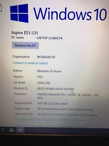 Year Old Acer Laptop and Printer