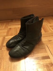 DIESEL (black) leather boots for men
