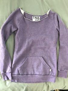 TNA purple sweater