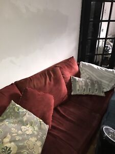 Free Apartment Sized Red IKEA Couch