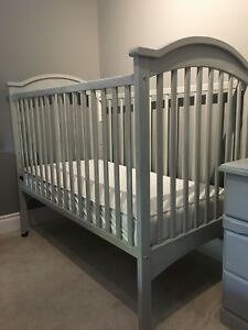 Crib dresser bookcase and night stand