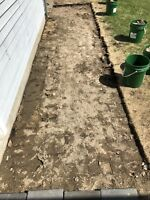 Looking for someone to re-install patio stones on walkway