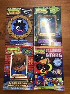 Set of 4 Moshi Monsters kids children's chapter Books