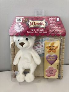 Lil Luvables Fluffy Factory Make a Luvable White Bear/Ours Blanc