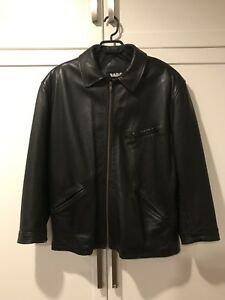 Men's Genuine Leather Black Jacket