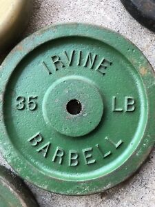 Cast iron barbell weights