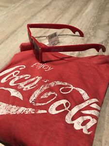 Coke t shirt and sunglasses both new 15$ for both!