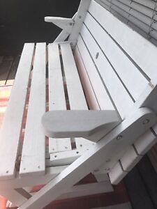 White Wooden Convertible Picnic Table