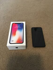 iPhone X 64gb unlocked (with accessories)