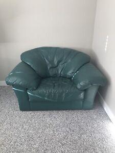 EUC Super Comfy Leather Chair