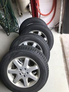 Pirelli Snow tires on Mercedes rims 275/55/r17