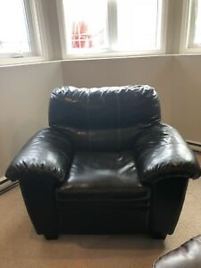Black leather chair  **reduced price**