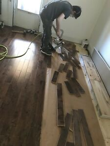 Hardwood Laminate And Stairs Installation