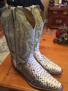 Snake skin cowboy boots-brand new