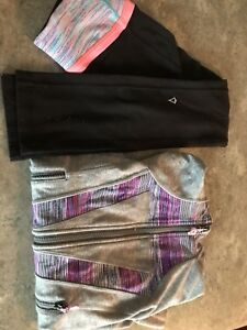 Ivivva pants and jacket size 8 Girls