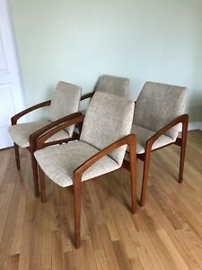 Set of 4 - Designer Teak Dining Chairs by Kai Kristiansen