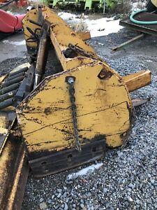 Tractor/backhoe/loader slide on snow pusher  & blade