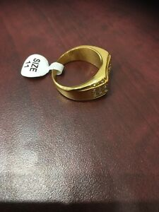 Stainless steal gold ring