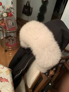 Mooseknuckle Parka Jacket With Natural Fox Fur Size Medium