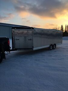 Enclosed snowmobile/cargo trailer for sale
