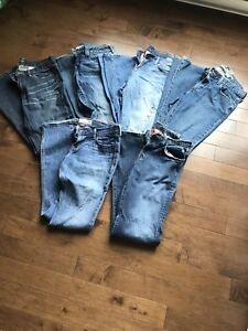 True Religion,Lucky Brand,Hollister,Old Navy,J Crew,AE jeans
