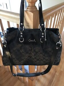 Black Canvas Coach Purse-Brand New Condition