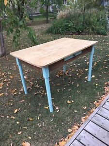 Antique  Farm Table with Eaton's Shipping Tag