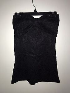 Black Strapless Top Small