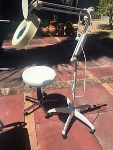 Beautician or hobby magnifying lamp & gas lift stool Leederville Vincent Area Preview