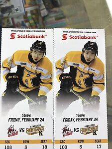 Kingston Frontenacs VS Ice Dogs tonight's game 7 PM