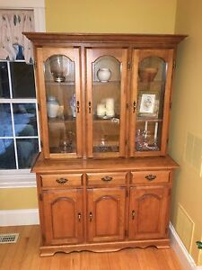 Solid hardwood buffet & hutch
