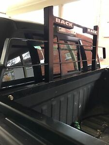 Back rack with tool box mount